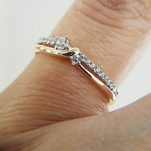 Jewelry - Dainty 14k Yellow Gold Stackable Ring Band